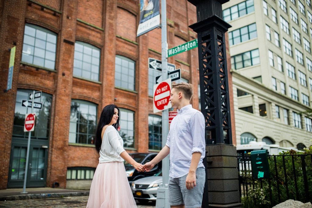 Washington street engagement session, NYC